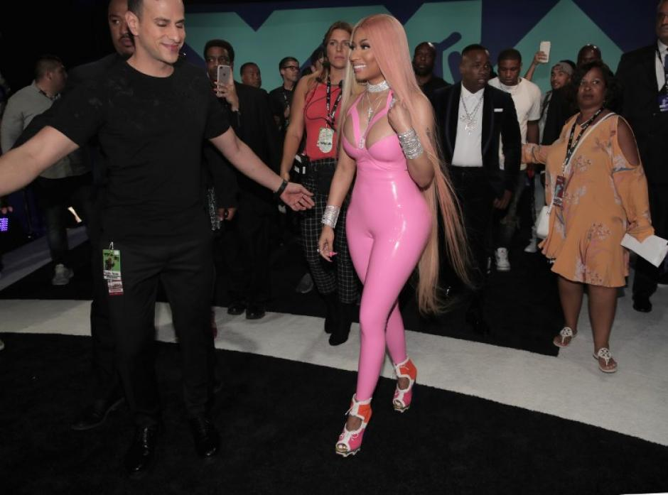 Nicki Minaj en los Video Music Awards 2017. (Foto: AFP)