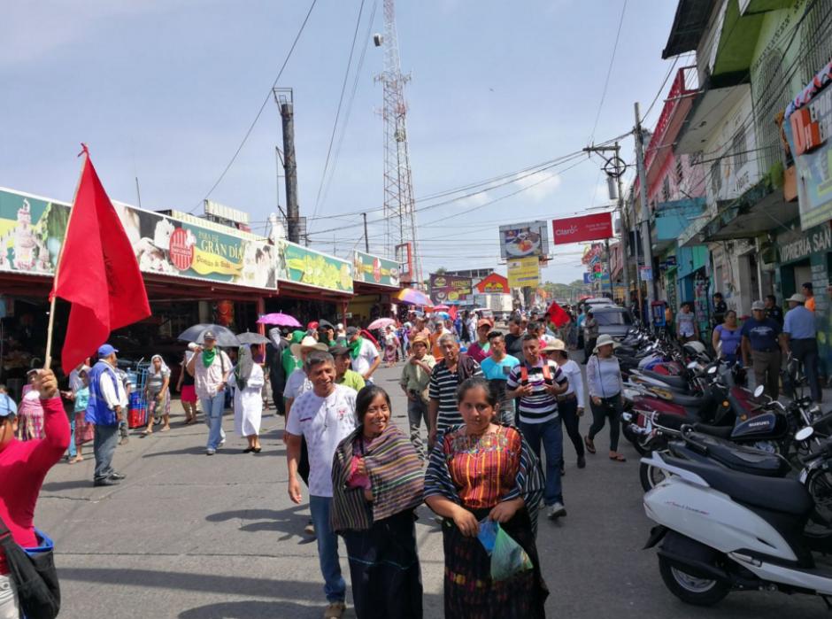 En Mazatenango también protestaron contra el mandatario. (Foto: Twitter)