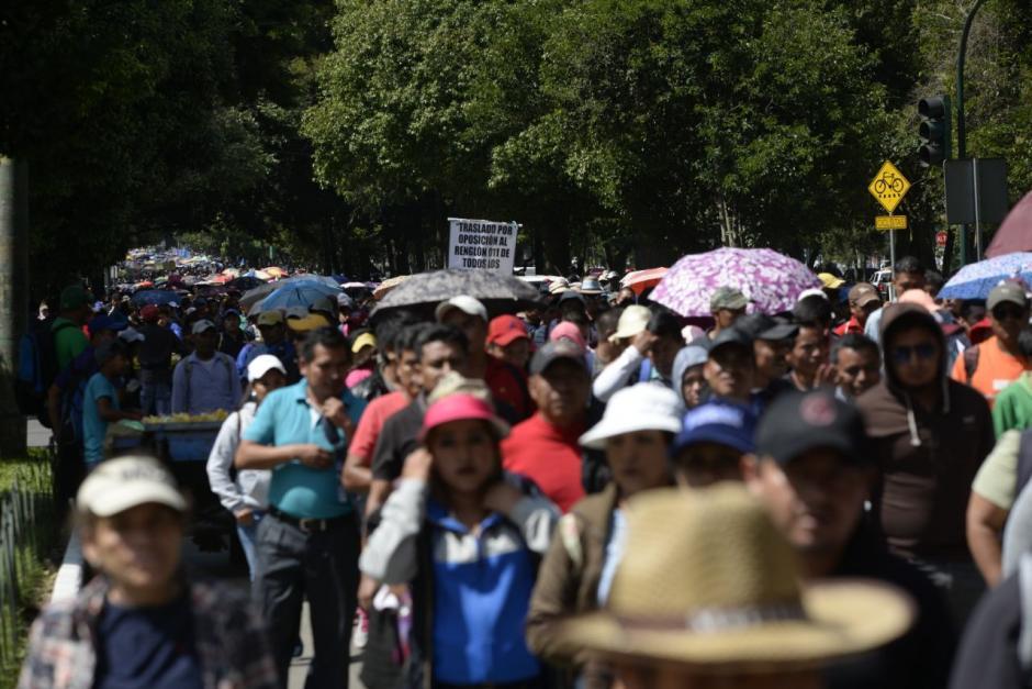 La multitud protestará frente al Ministerio de Educación. (Foto: Wilder López/Soy502)
