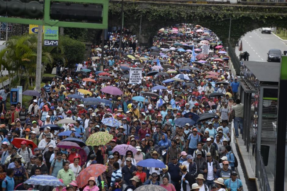 La movilización de maestros tendrá impacto en el tráfico. (Foto: Wilder López/Soy502)