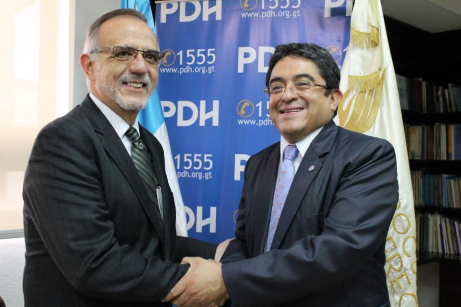 El comisionado Iván Velásquez visitó la sede de la PDH. (Foto: PDH)