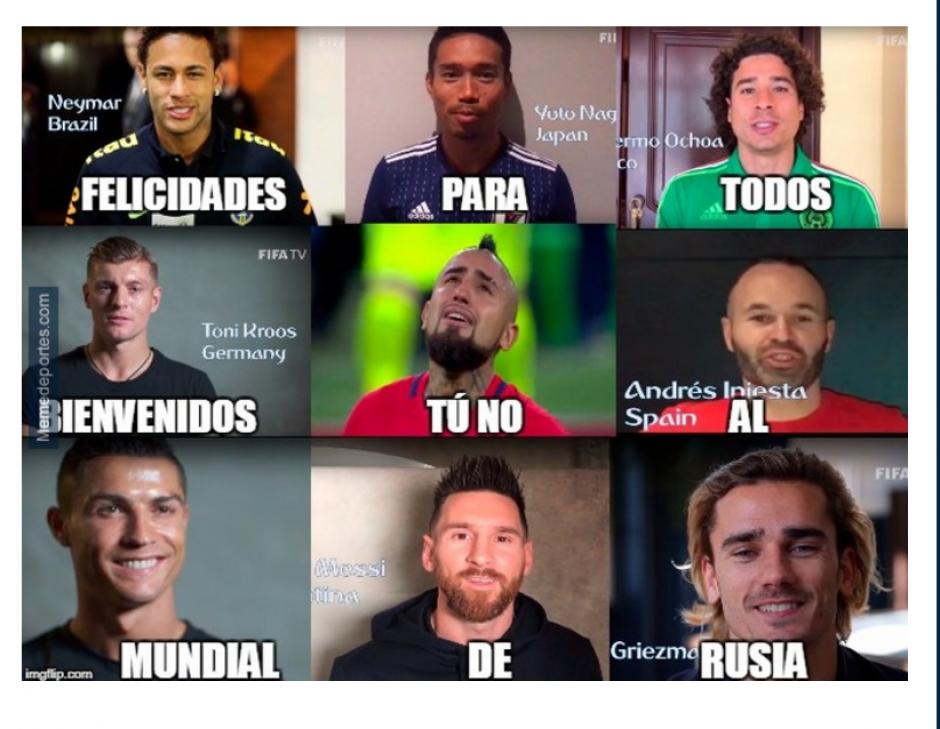 Chile no asistirá a esta Copa del Mundo. (Foto: MemeDeportes)