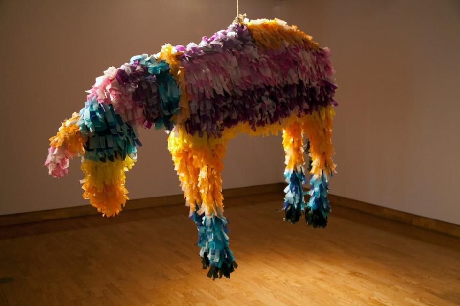 Sus piñatas no son comunes. (Foto: Krystal Ramírez)