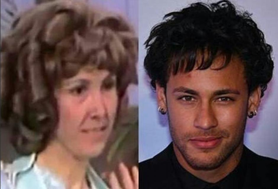 Hasta con Florinda Meza compararon a Neymar. (Foto: Twitter)