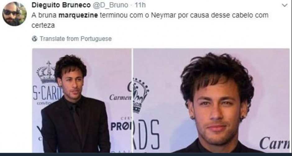 Bruna Marquezine dejó a Neymar por culpa de su nuevo peinado. (Foto: Twitter)