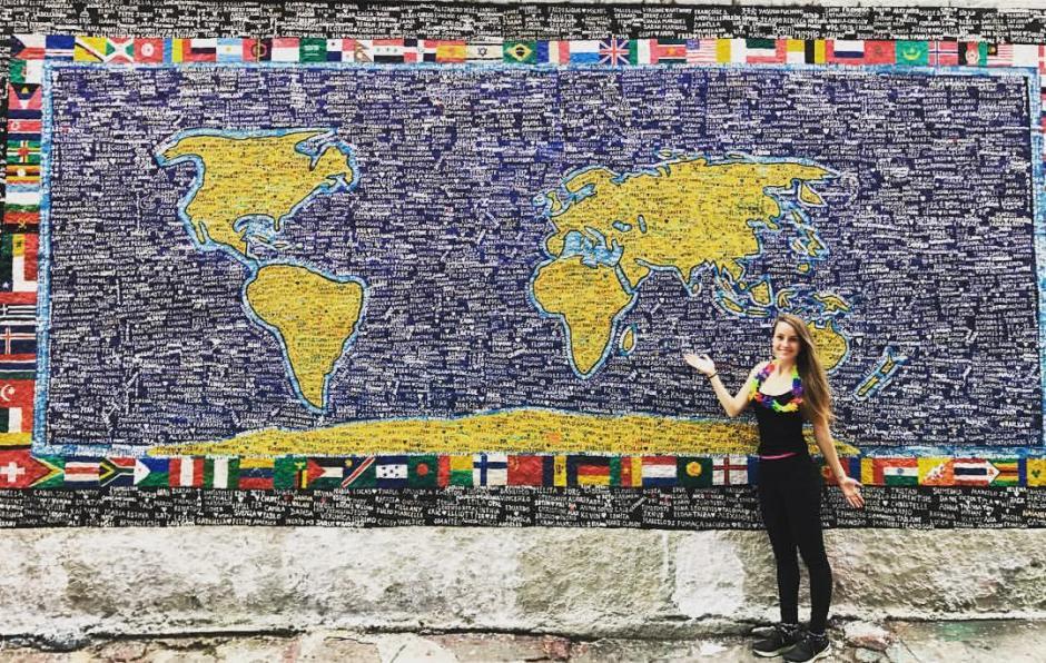 Hasta ahora ha recorrido 66 países. Guatemala ha sido una gran experiencia para ella. (Foto: Sarah Dodd)