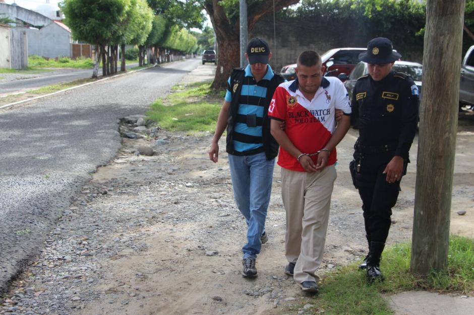 Rony Estuardo Franco López fue detenido por lavado de dinero. (Foto: PNC)