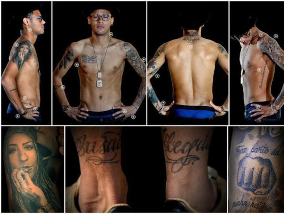 Neymar tiene más de 25 tatuajes en su cuerpo. (Foto: Tatuantes)