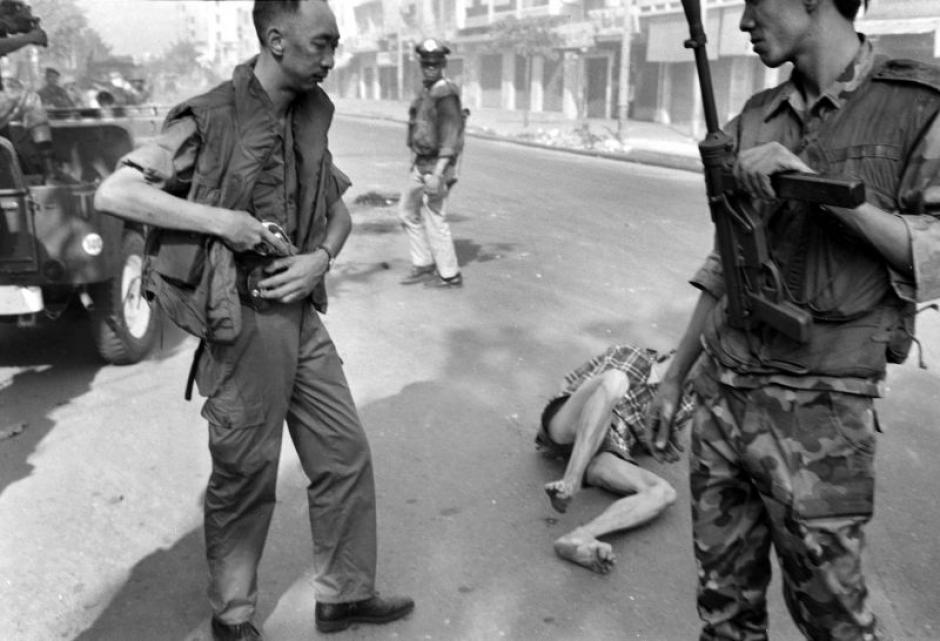 El Capitán Bay Lop fue ejecutado en la vía pública. (Foto: AP)