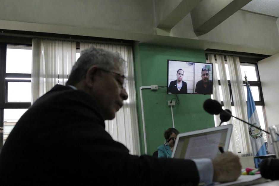 René Danilo Mejía Mejía, quien acusó a Gálvez, comparece por videoconferencia. (Foto: Alejandro Balán/Soy502)