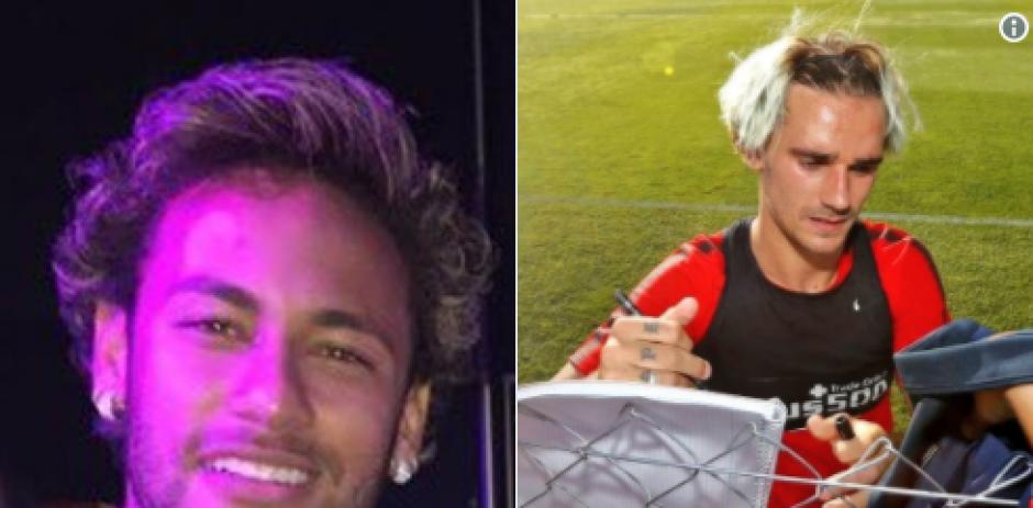 Neymar y Griezmann va con el mismo peluquero. (Foto: Twitter)