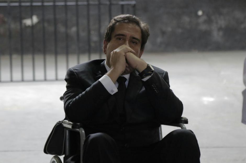 Gustavo Alejos sufrió de presión arterial alta y su abogado pidió que la audiencia fuera suspendida. (Foto: Alejandro Balán/Soy502)