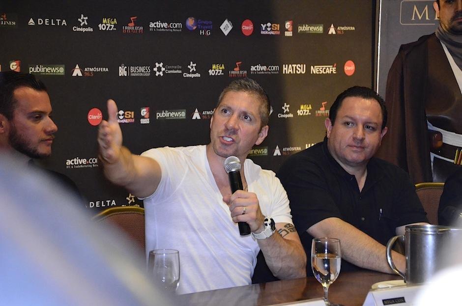 Previo al evento hizo un espacio para recibir a los medios de comunicación. (Foto: Selene Mejía/Soy502)