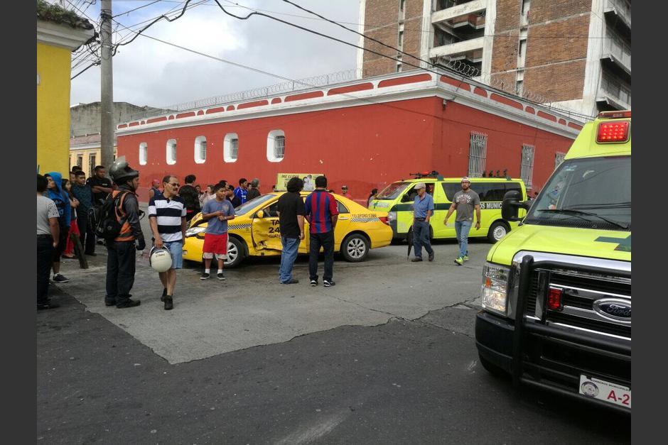 El accidente se registró en la zona 1. (Foto: Amilcar Montejo/PMT)
