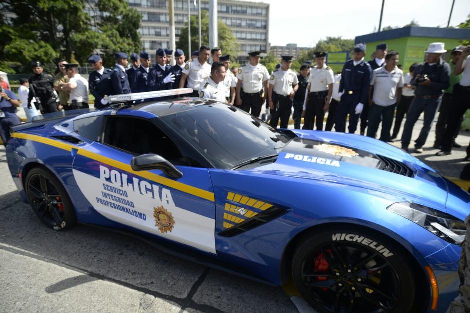 El Corvette C7 ahora es propiedad de la PNC. (Foto: Wilder López/Soy502)