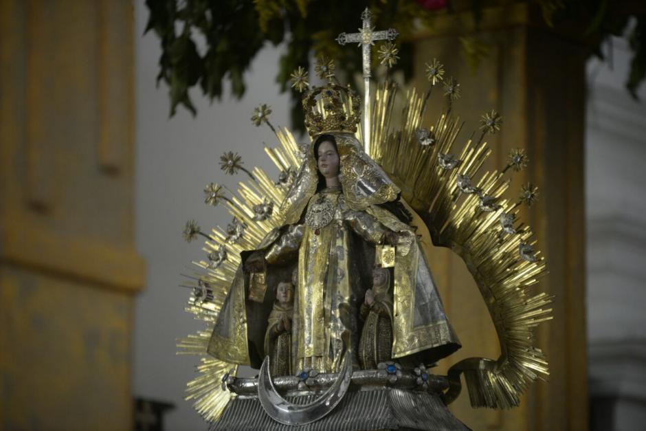 Esta es la imagen que se venera en la Iglesia del Cerrito del Carmen. (Foto: Wilder López/Soy502)