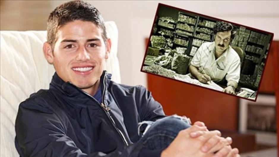 James Rodríguez es relacionado con Cartel de Pablo Escobar