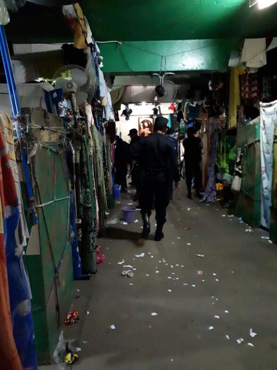 Vista del interior de un ambiente en El Infiernito. (Foto: PNC)
