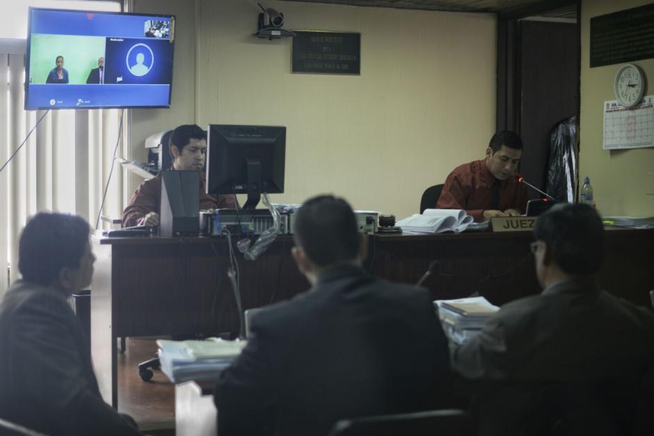 La audiencia de etapa intermedia se realizó por medio de videoconferencia. (Foto: Wilder López/Soy502)