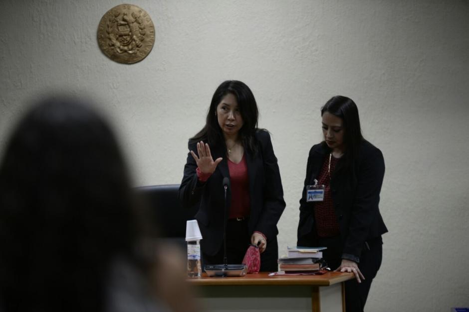 """Erika Lorena Aifán, titular del juzgado de Mayor Riesgo """"D"""", decidió reprogramar la audiencia. (Foto: Wilder López/Soy502)"""