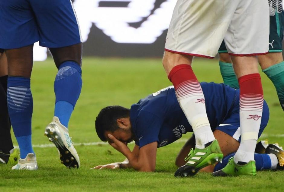 Pedro hospitalizado tras brutal choque con portero David Ospina