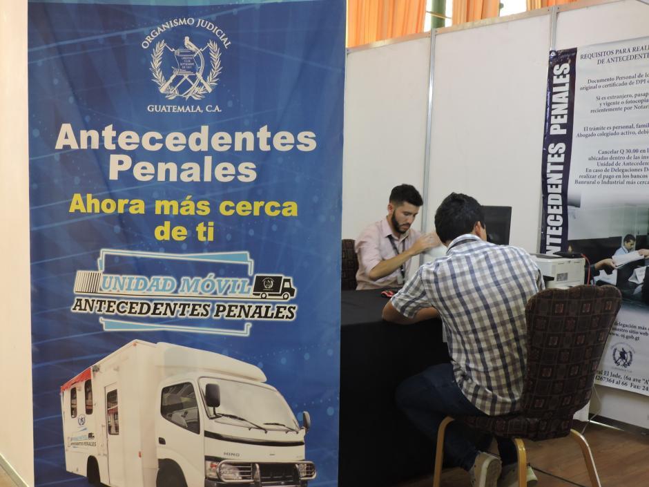 Puedes solicitar tus antecedentes penales en el lugar. (Foto: Fredy Hernández/Soy502)
