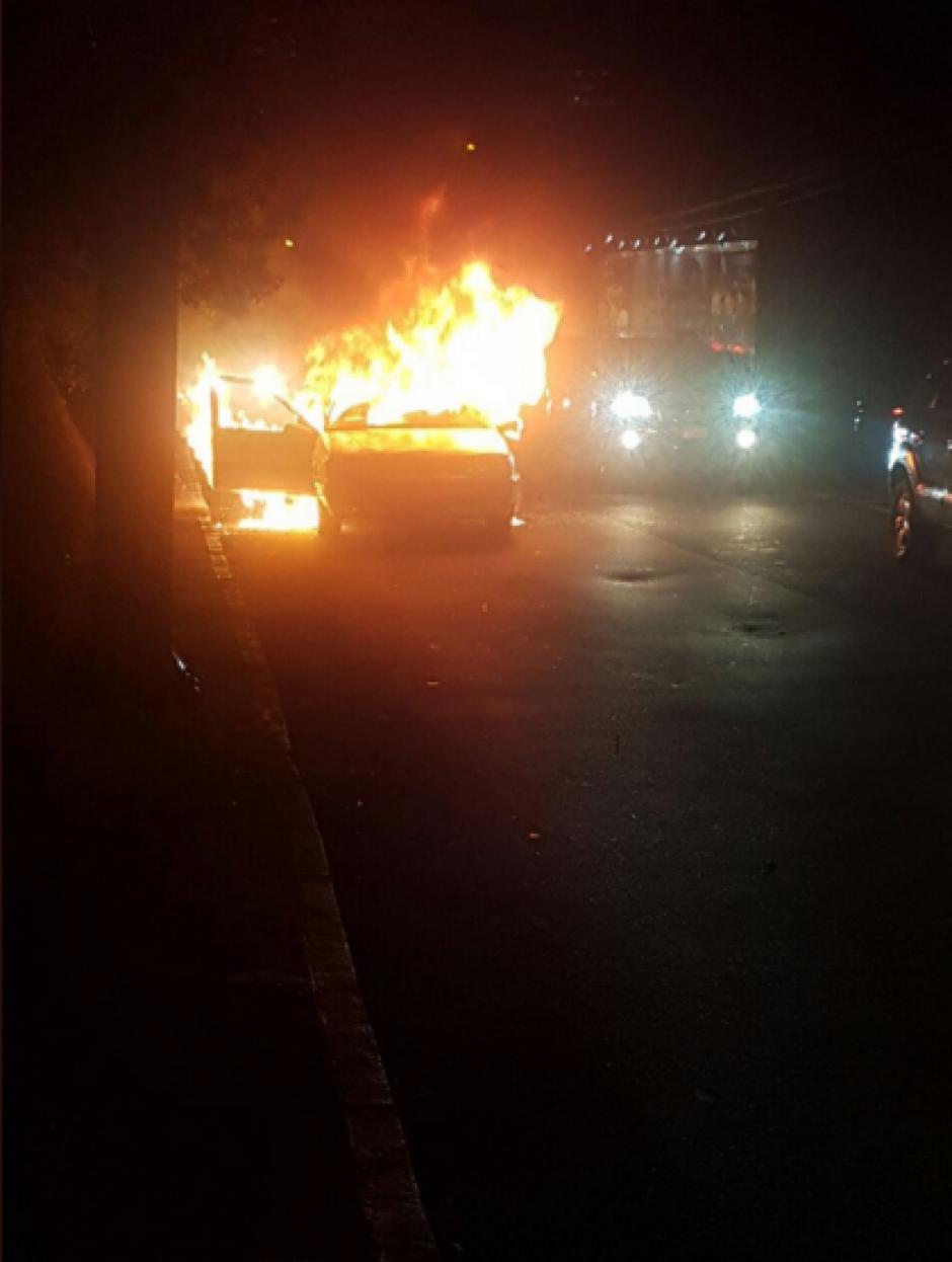 El incidente provocó tráfico en el lugar. (Foto: Twitter)