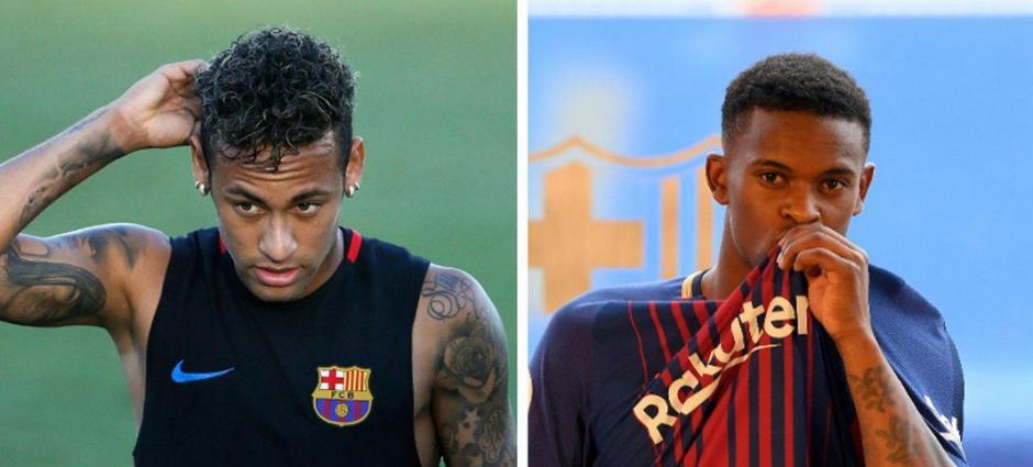 """Neymar y Nelson Semedo son los protagonistas de una pelea de """"memes"""". (Foto: Twitter)"""