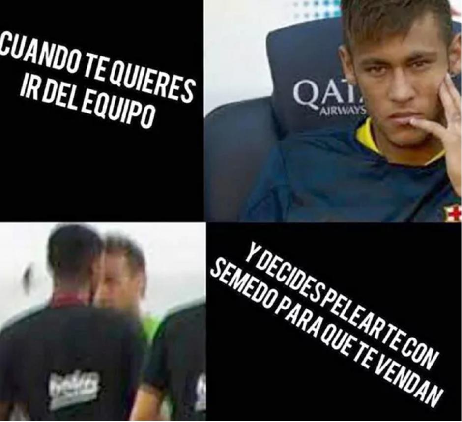 El brasileño parece tener la mente en negociaciones con el Paris Saint Germain. (Foto: Twitter)
