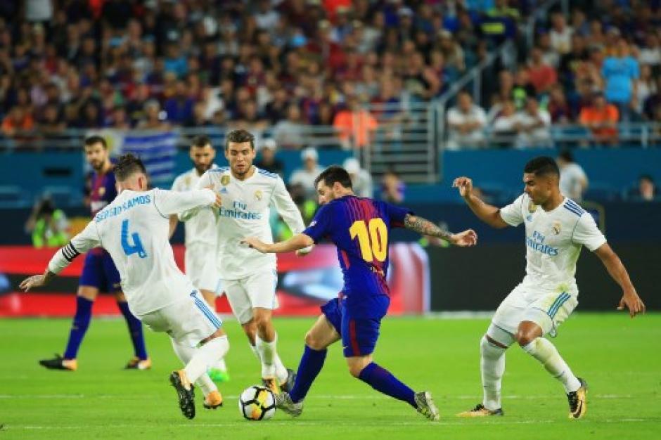 Messi fue la gran atracción del partido. (Foto: AFP)