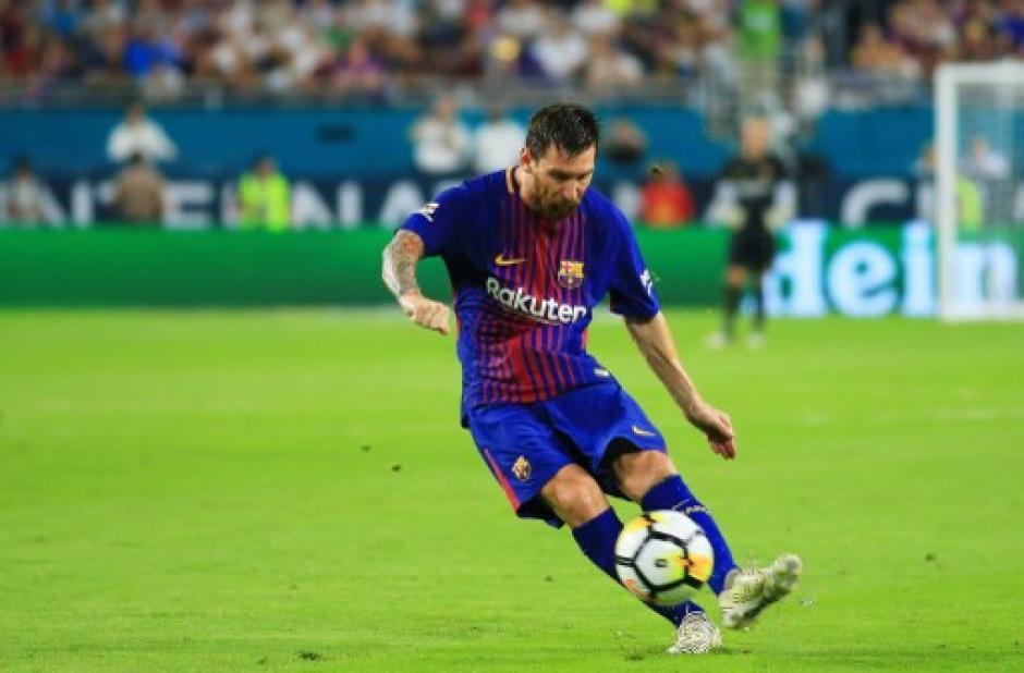 Leo Messi anotó el primer gol del encuentro. (Foto: AFP)