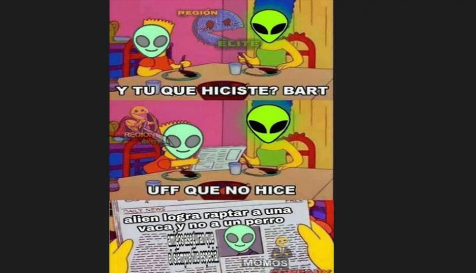 Tampoco los aliens se salvaron (Foto: Screenshot / peru.com)