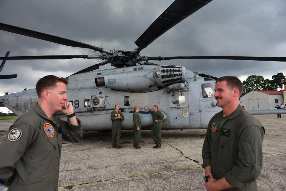 "60 ""marines"" arribaron a Guatemala este lunes. (Foto: Jesús Alfonso/Soy502)"