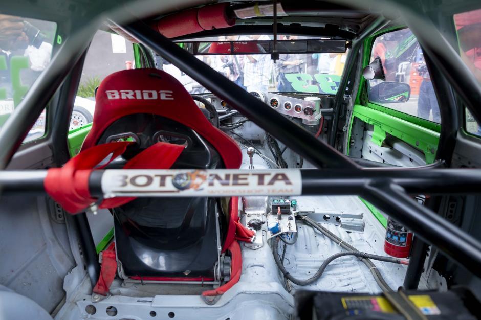 Así luce el interior de uno de los vehículos participantes de la categoría Vintage. (Foto: George Rojas/Soy502)