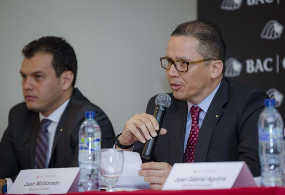 Juan Maldonado, gerente general de BAC Credomatic, en conferencia de prensa. (Foto: George Rojas/Soy502)