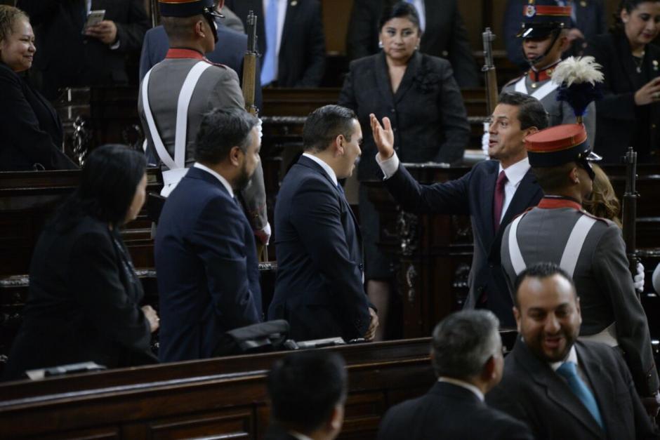 La sesión solemne se efectuó por la visita del presidente mexicano a Guatemala. (Foto: Wilder López/Soy502)