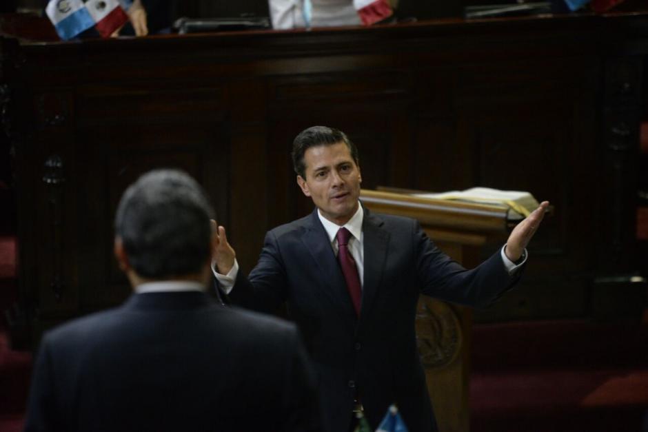 Peña Nieto aseguró que los migrantes reciben un buen trato en México. (Foto: Wilder López/Soy502)