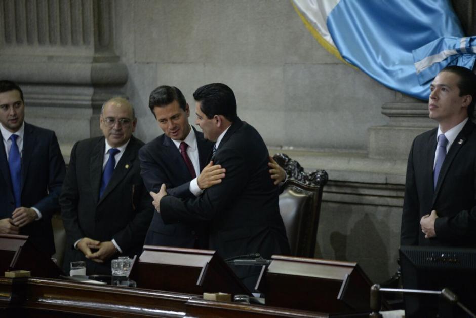 """El presidente del Congreso llamó """"su excelencia"""" a Peña Nieto en repetidas ocasiones. (Foto: Wilder López/Soy502)"""