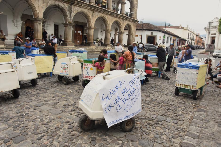 Este grupo pide una exoneración para vender los helados artesanales. (Foto: Pablo Solís/Nuestro Diario)