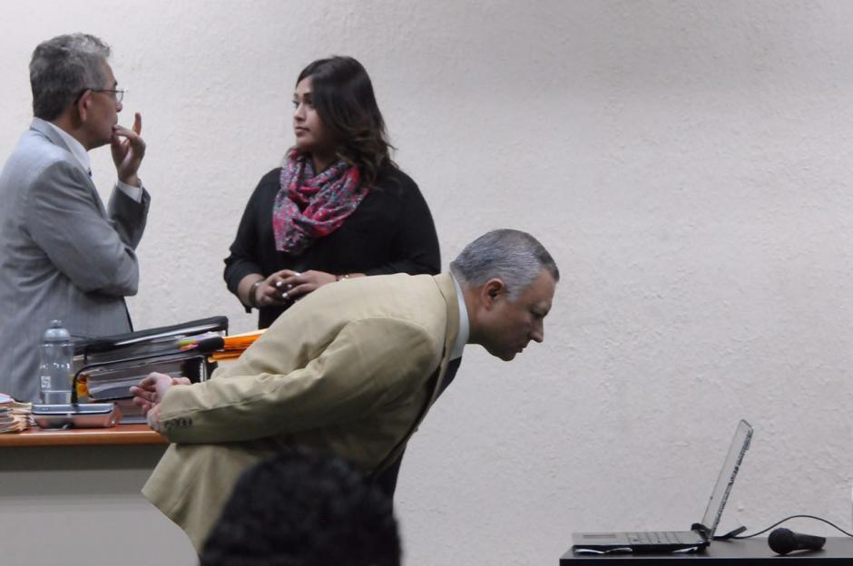 Durante la audiencia, el Juez Miguel Ángel Gálvez ordenó que la computadora fuera abierta. (Foto: Jesús Alfonso/Soy502)