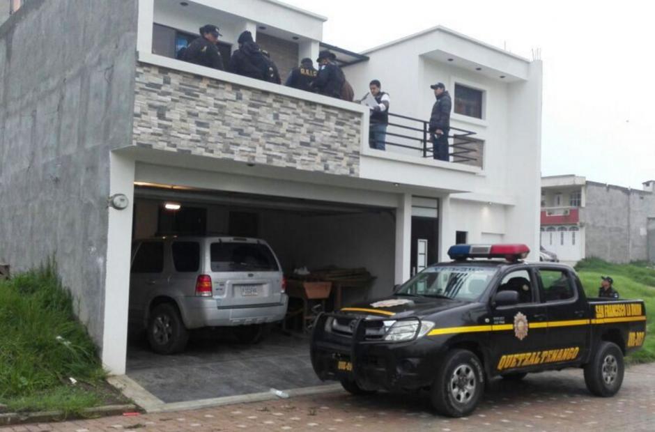 La casa fue allanada por las autoridades. (Foto: PNC)