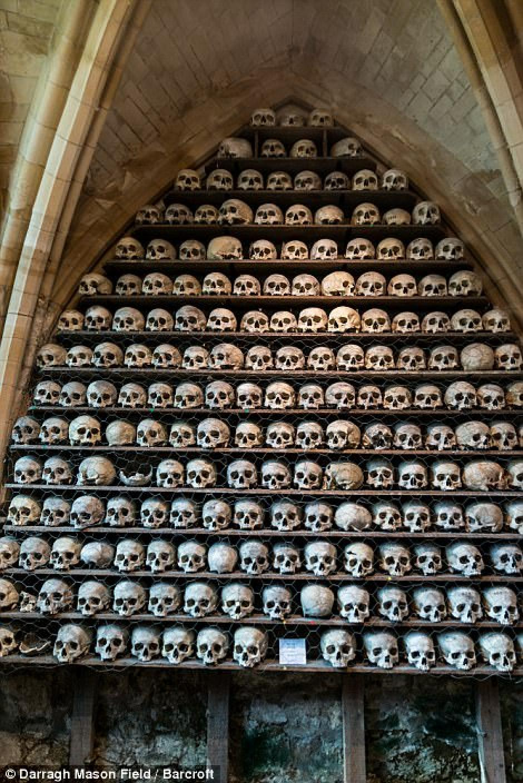 Los cráneos están colocados como si fueran una decoración. (Foto: Darragh Mason Field)