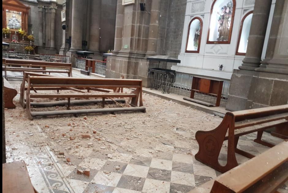 Así se encuentra la Catedral de Quetzaltenango. (Foto: Stereo100)