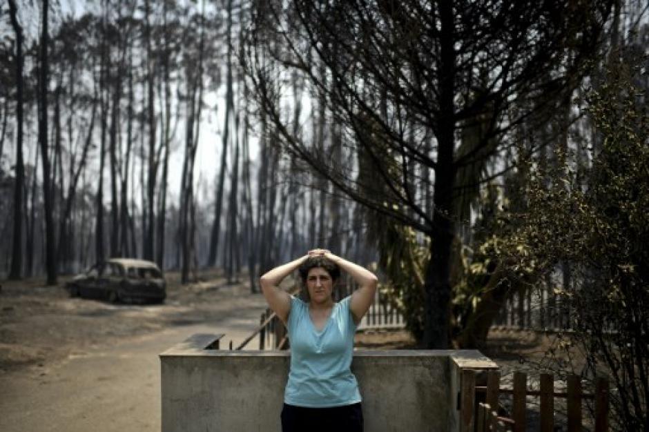 El incendio se extendió por 20 kilómetros de la carrera. (Foto: AFP)