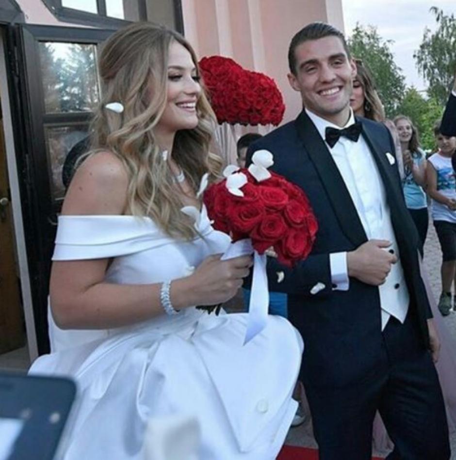 Mateo Kovacic e Izabela Andrijanic, ambos croatas se casaron en su país natal. (Foto: Instagram)