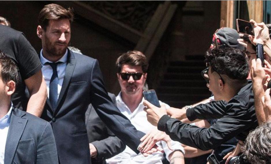 Lionel Messi operativo de seguridad para su boda foto