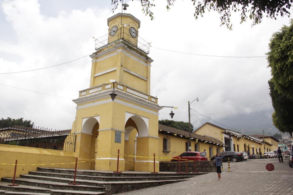 La Torre Municipal de Ciudad Vieja se encontraba en restauración al momento del incidente. (Foto: Fredy Hernández/Soy502)