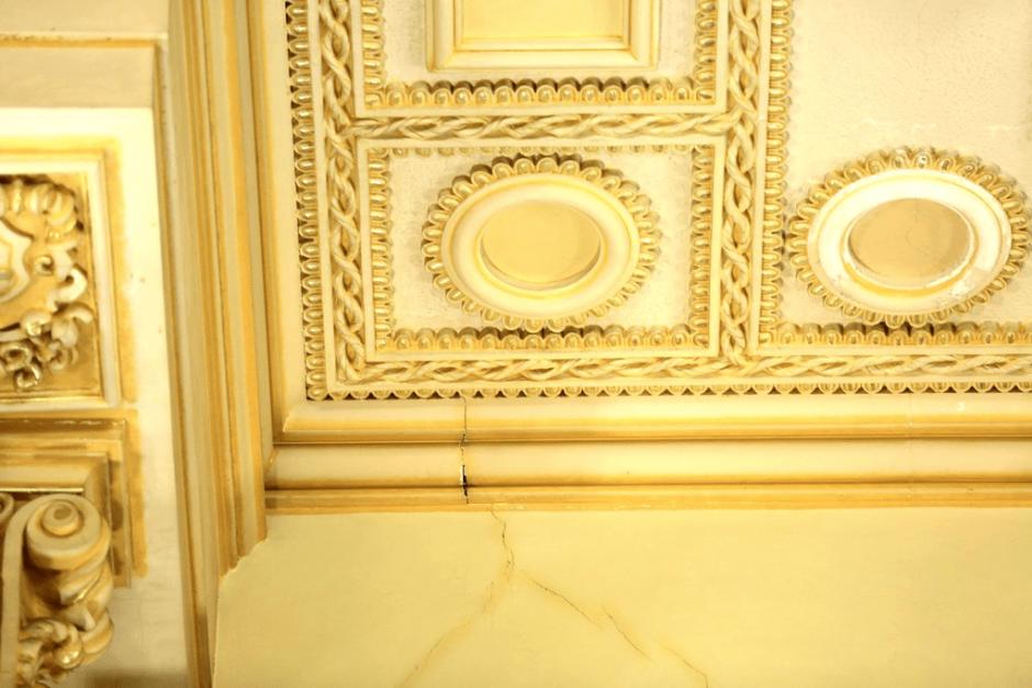 Dos de los salones del Palacio resultaron dañados. (Foto: Ministerio de Cultura y Deportes)