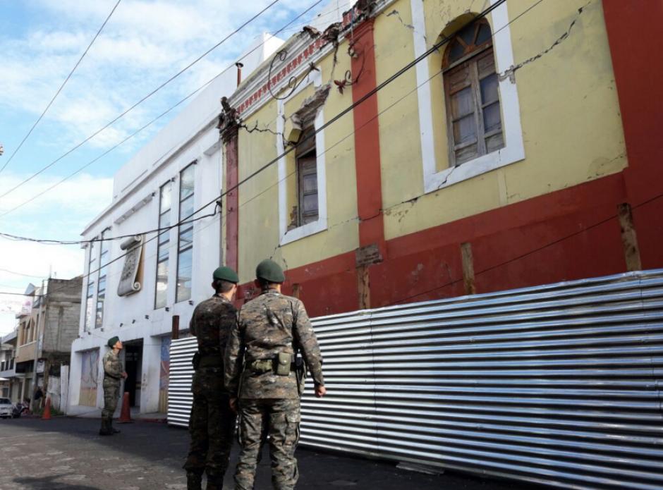 El Ejército de Guatemala también reportó daños a infraestructura. (Foto: Conred)