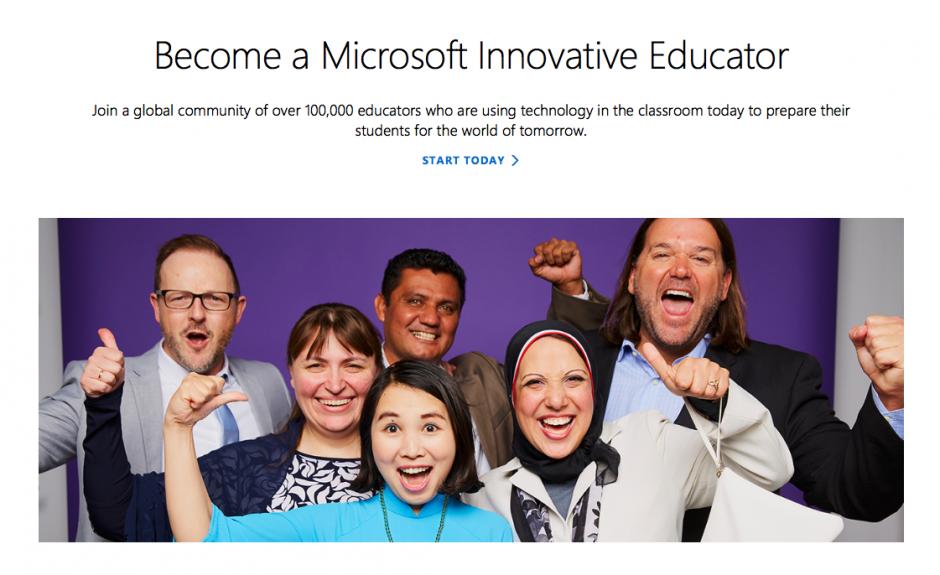 Su rostro aparece en el sitio de Microsoft para impulsar las herramientas tecnológicas. (Foto: Microsoft)